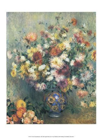 Vase of Chrysanthemums, 1880 by Pierre-Auguste Renoir