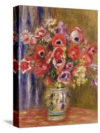 Vase of Tulips and Anemones, circa 1895 by Pierre-Auguste Renoir