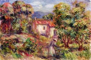 Woman Picking Flowers in the Garden of Les Colettes at Cagnes, 1912 by Pierre-Auguste Renoir