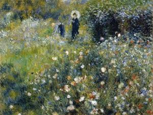 Woman with a Parasol in a Garden, 1875 by Pierre-Auguste Renoir