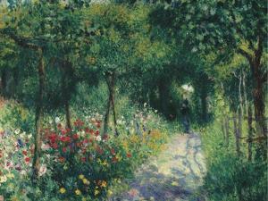 Women in the garden. 1873 by Pierre-Auguste Renoir