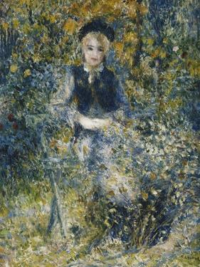 Young Girl on a Bench; La Jeune Fille Au Banc, 1875 by Pierre-Auguste Renoir