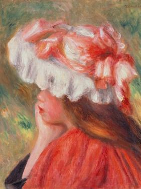 Young Girl with Red Hat, 1890 by Pierre-Auguste Renoir