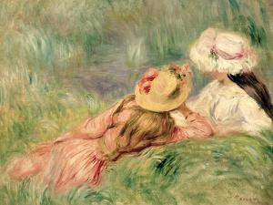 Young Girls on the River Bank by Pierre-Auguste Renoir