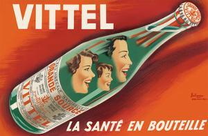 Vittel - La Sante en Bouteille (Bottled Health) - Natural Mineral Water from France by Pierre Bellenger and Emmanuel Gaillard
