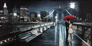 Kissing on Brooklyn Bridge by Pierre Benson