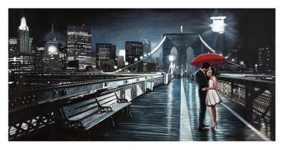 Kissing on Brooklyn Bridge