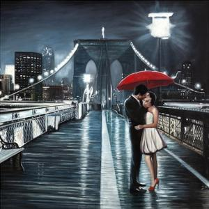 Kissing on Brooklyn Bridge by Pierre Benson