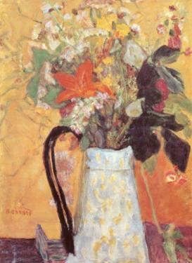 Blumenstrauss in Weissem Krug by Pierre Bonnard
