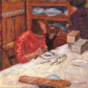 Interior the Woman with the Dog by Pierre Bonnard