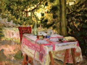 Table Set in a Garden by Pierre Bonnard