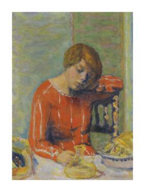 The Striped Bodice by Pierre Bonnard