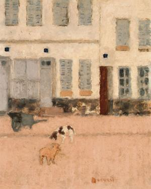 Two Dogs in a Deserted Street by Pierre Bonnard
