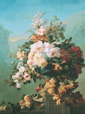 Roses and Other Flowers in an Urn by Pierre Bourgogne