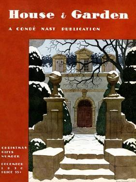 House & Garden Cover - December 1930 by Pierre Brissaud