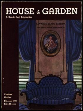 House & Garden Cover - February 1932 by Pierre Brissaud