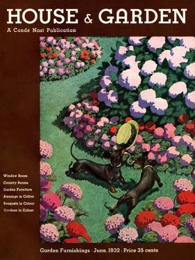 House & Garden Cover - June 1932 by Pierre Brissaud