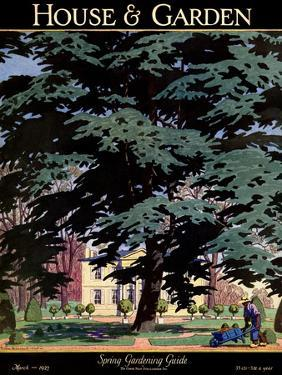 House & Garden Cover - March 1927 by Pierre Brissaud