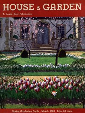 House & Garden Cover - March 1933 by Pierre Brissaud