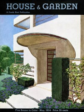 House & Garden Cover - May 1934 by Pierre Brissaud