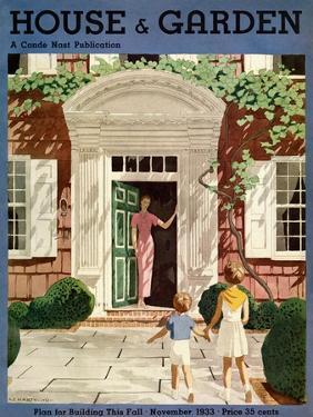 House & Garden Cover - November 1933 by Pierre Brissaud