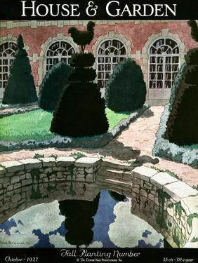 House & Garden Cover - October 1927 by Pierre Brissaud