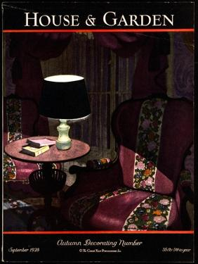 House & Garden Cover - September 1928 by Pierre Brissaud