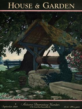House & Garden Cover - September 1929 by Pierre Brissaud