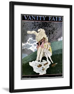 Vanity Fair Cover - September 1927 by Pierre Brissaud