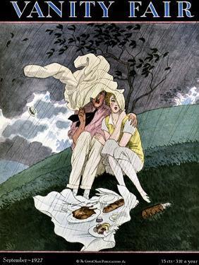 Vanity Fair Cover - September 1927 by Pierre Brissaud