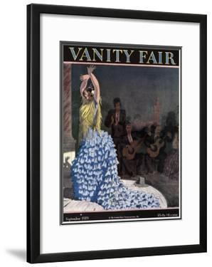 Vanity Fair Cover - September 1929 by Pierre Brissaud