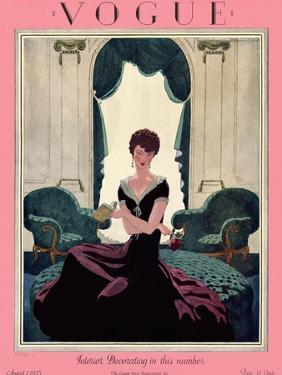 Vogue Cover - August 1925 by Pierre Brissaud
