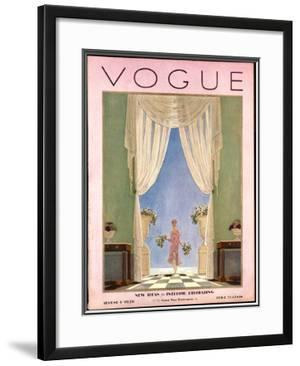 Vogue Cover - August 1928 by Pierre Brissaud