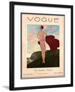 Vogue Cover - July 1927 by Pierre Brissaud