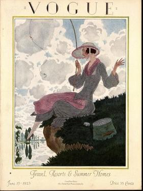 Vogue Cover - June 1923 by Pierre Brissaud