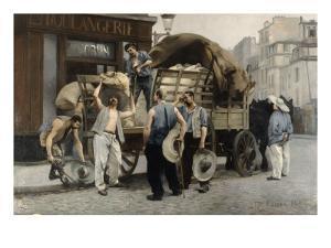 Les livreurs de farine by Pierre Carrier-belleuse