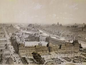 The Finished Louvre and the New Rue De Rivoli by Pierre Chapuis