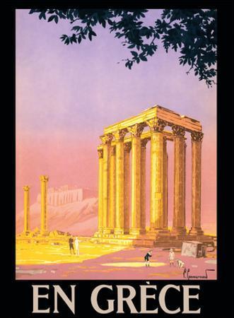 En Grece (in Greece) - Ancient Temple of Zeus - Athens, Greece by Pierre Commarmond