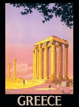 Greece - Ancient Temple of Zeus - Athens, Greece by Pierre Commarmond