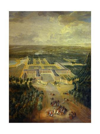 Gardens of Grand Trianon in Versailles. Child King Louis XV on Horseback