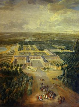 Gardens of Grand Trianon in Versailles. Child King Louis XV on Horseback by Pierre Denis Martin