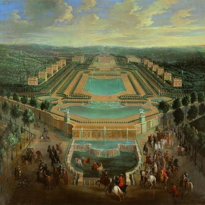 Overall view of the Chateau de Marly,designed by J.H.Mansart 1677-1688 for King Louis XIV.