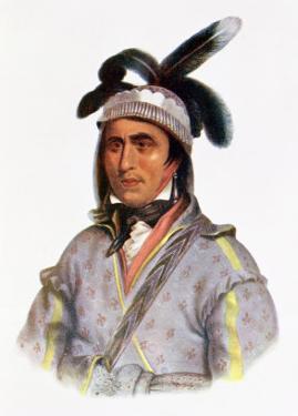 Cunne Shote, Chief of the Cherokees, 1780 by Pierre Duflos