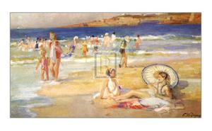 Beach at Biarritz by Pierre Dupuy