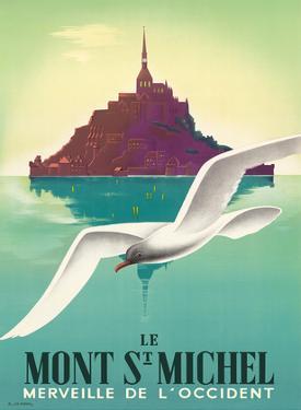 Le Mont-Saint-Michel, Normandy, France by Pierre Fix-Masseau
