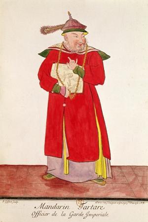 A Tartar Mandarin of the Imperial Guard, from 'Estat Present De La Chine' by Pere Bouvet, 1697