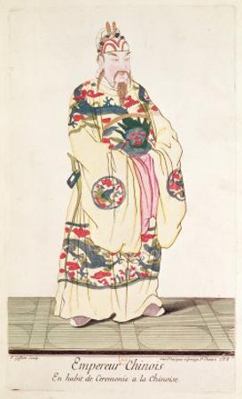Chinese Emperor in Ceremonial Costume, from Estat Present de La Chine by Pere Bouvet, 1697
