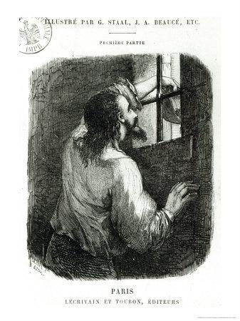 Edmond Dantes Imprisoned in the Chateau D'If, The Count of Monte Cristo by Alexandre Dumas
