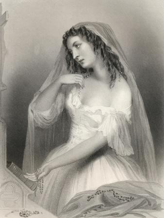 Louise Francoise De La Baume De La Blanc (1644-1710) Duchesse De La Valliere, Illustration from…