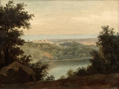Lake Nemi, in the Background the City of Genzano, Late 18th-Early 19th Century